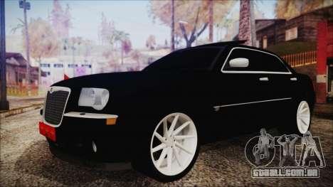 Chrysler 300С Unalturan para GTA San Andreas traseira esquerda vista