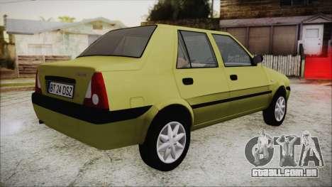 Dacia Solenza para GTA San Andreas esquerda vista