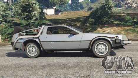 GTA 5 DeLorean DMC-12 Back To The Future v1.0 vista lateral esquerda