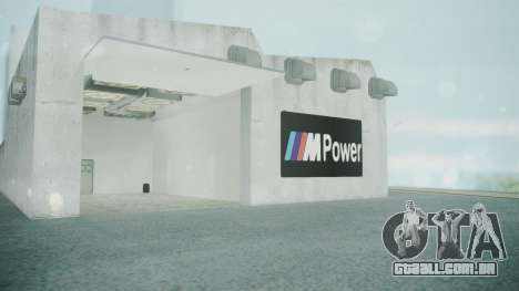 BMW Showroom para GTA San Andreas por diante tela
