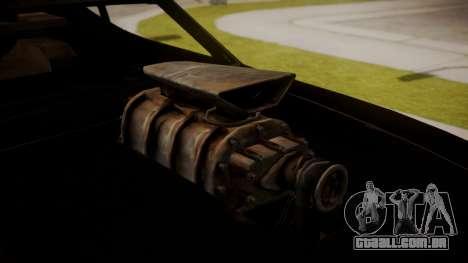 Ford Falcon Coupe XB GT 1973 Max Interceptor para GTA San Andreas traseira esquerda vista