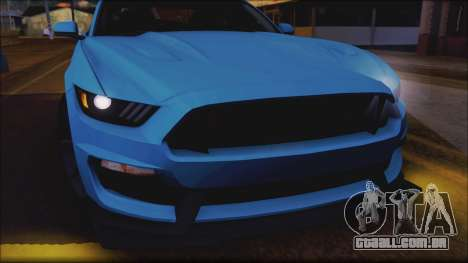 Ford Mustang Shelby GT350R 2016 No Stripe para vista lateral GTA San Andreas