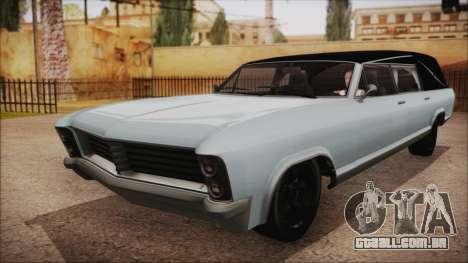 GTA 5 Albany Lurcher Bobble Version para GTA San Andreas traseira esquerda vista