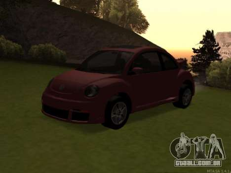 VW New Beetle 2004 Tunable para GTA San Andreas vista interior