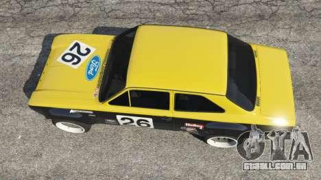 GTA 5 Ford Escort MK1 v1.1 [26] voltar vista