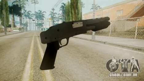 GTA 5 Sawnoff Shotgun para GTA San Andreas terceira tela