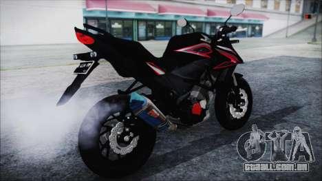 Honda CB150R Black para GTA San Andreas traseira esquerda vista