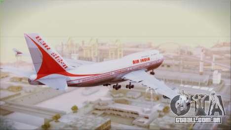 Boeing 747-437 Air India Tanjore New Skin para GTA San Andreas esquerda vista