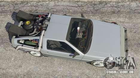 GTA 5 DeLorean DMC-12 Back To The Future v1.0 voltar vista