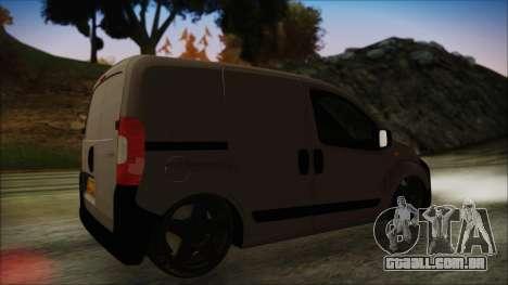 Peugeot Bipper para GTA San Andreas traseira esquerda vista