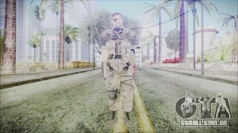MGSV Phantom Pain Snake Scarf Olive Drab para GTA San Andreas segunda tela