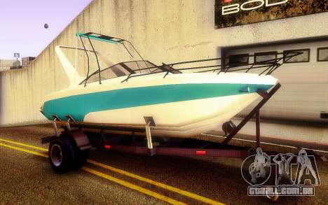 GTA V Boat Trailer para GTA San Andreas vista direita