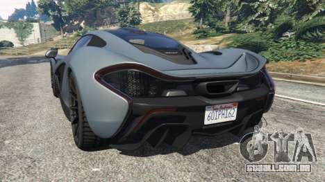 GTA 5 McLaren P1 2014 v1.5 traseira vista lateral esquerda