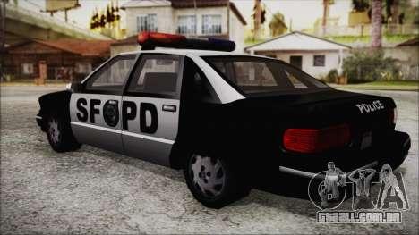 Beta SFPD Cruiser para GTA San Andreas esquerda vista
