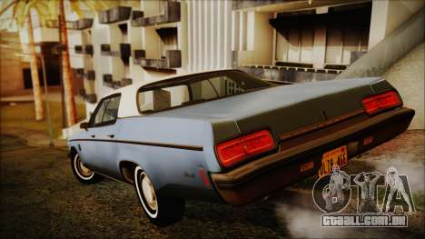 Oldsmobile Delta 88 1973 Final para GTA San Andreas esquerda vista
