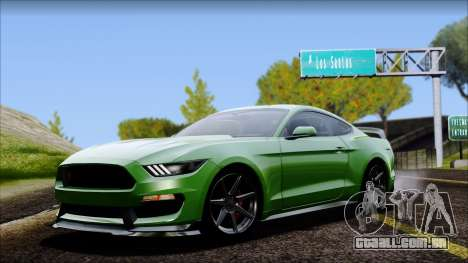 Ford Mustang Shelby GT350R 2016 No Stripe para GTA San Andreas
