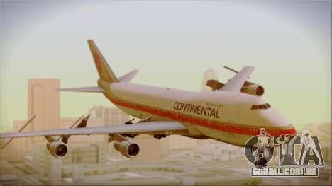 Boeing 747-200 Continental Airlines Red Meatball para GTA San Andreas traseira esquerda vista