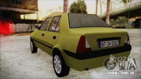 Dacia Solenza para GTA San Andreas traseira esquerda vista
