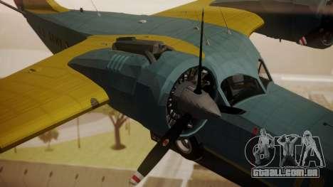 Grumman G-21 Goose N130FB para GTA San Andreas vista direita