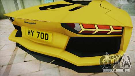 Lamborghini Aventador LP700-4 Roadster 2013 para GTA San Andreas vista interior