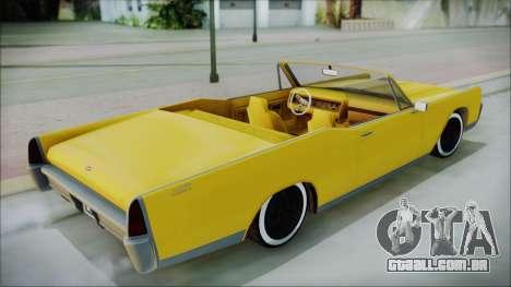 GTA 5 Vapid Chino Bobble Version para GTA San Andreas traseira esquerda vista