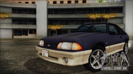 Ford Mustang Hatchback 1991 v1.2 para GTA San Andreas