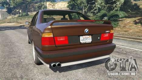 GTA 5 BMW M5 (E34) 1991 v2.0 traseira vista lateral esquerda