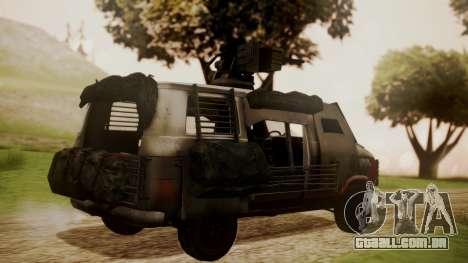 BF3 Rhino para GTA San Andreas esquerda vista