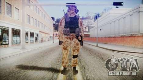 MW2 Russian Airborne Troop Desert Camo v4 para GTA San Andreas terceira tela