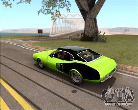 Clover Barracuda para GTA San Andreas esquerda vista