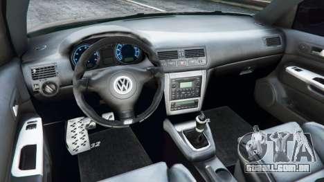 GTA 5 Volkswagen Golf Mk4 R32 traseira direita vista lateral