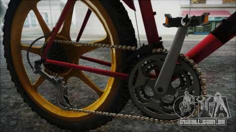 Mtbike HD para GTA San Andreas vista traseira