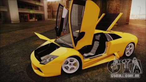 Lamborghini Murcielago 2005 Yuno Gasai IVF para GTA San Andreas vista traseira