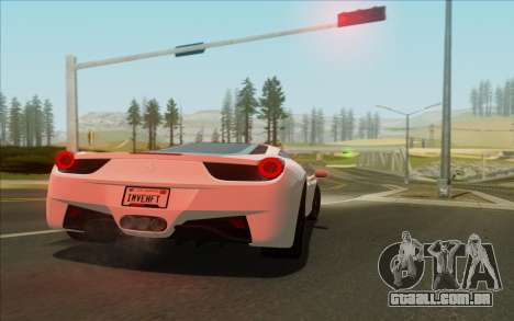 Amazing Graphics para GTA San Andreas por diante tela
