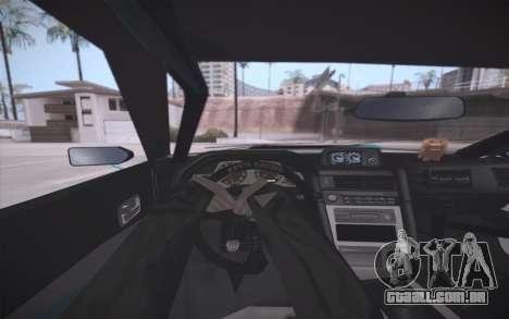 Elegy DRIFT KING GT-1 (Stok wheels) para GTA San Andreas vista inferior