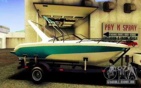 GTA V Boat Trailer para GTA San Andreas esquerda vista
