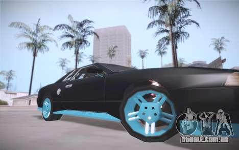 Elegy DRIFT KING GT-1 (Stok wheels) para GTA San Andreas esquerda vista