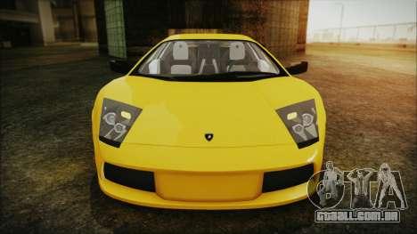 Lamborghini Murcielago 2005 Yuno Gasai IVF para vista lateral GTA San Andreas