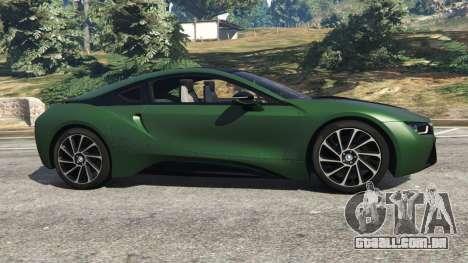 GTA 5 BMW i8 2015 vista lateral esquerda