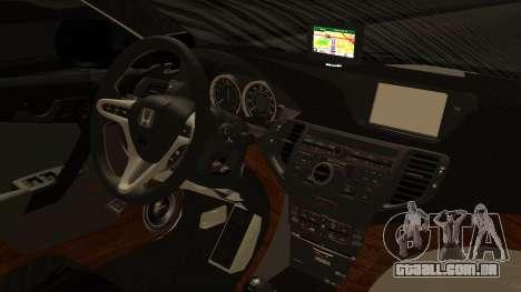 Honda Accord Type S 2008 RHBK para GTA San Andreas vista direita