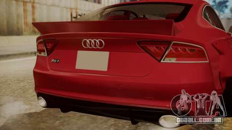 Audi RS7 X-UK L3D para GTA San Andreas vista traseira