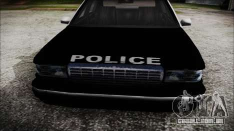 Beta SFPD Cruiser para GTA San Andreas vista direita