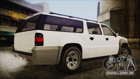 GTA 5 Declasse Granger Civilian IVF para GTA San Andreas esquerda vista