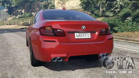 GTA 5 BMW 535i 2012 traseira vista lateral esquerda