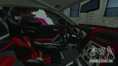 Hyundai Genesis Coupe Hatsune Miku Itasha PJ para GTA San Andreas vista traseira