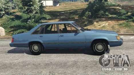 GTA 5 Ford LTD LX 1985 vista lateral esquerda