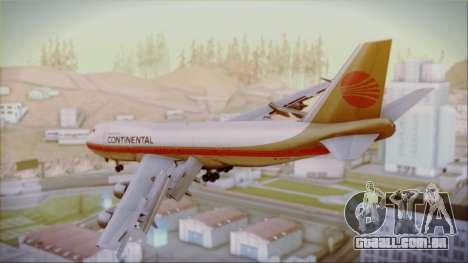 Boeing 747-200 Continental Airlines Red Meatball para GTA San Andreas esquerda vista