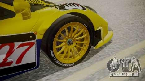 McLaren F1 GTR 1998 Parabolica para GTA San Andreas traseira esquerda vista
