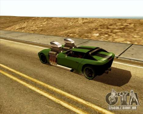 Banshee Twin Mill III Hot Wheels para GTA San Andreas vista direita