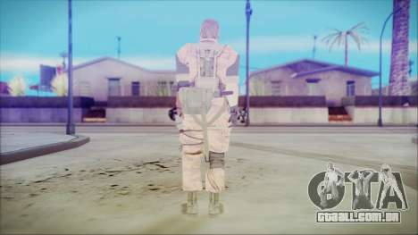 MGSV Phantom Pain Snake Normal Golden Tiger para GTA San Andreas terceira tela